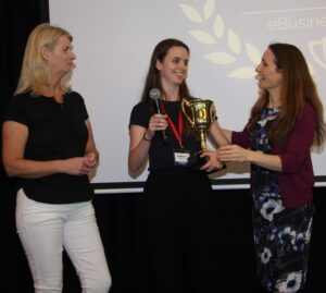 Liz Raad awards Yvette Facchini Student Of The Year
