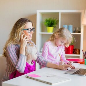 boundaries with kids when working from home