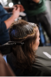 haircolouring at home with a mobile hairdresser