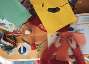 Entertain Kids while working at home with Paper Craft
